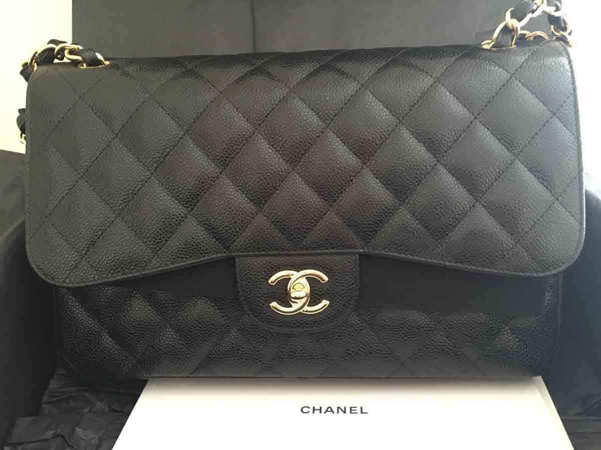 5444837d826698 Chanel Jumbo Classic Handbag - Black & Gold - Seeking Perfect Purchase