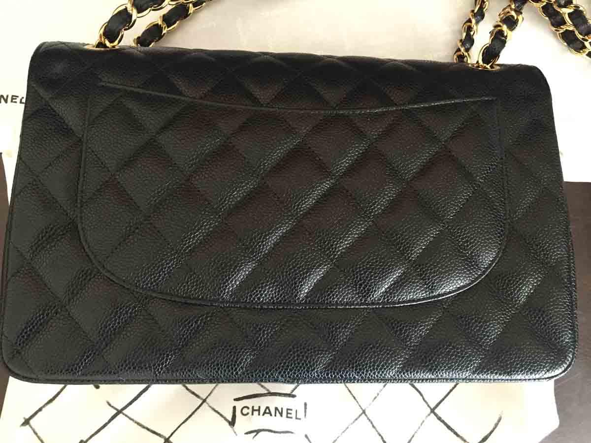 46f4f7aad Chanel Jumbo Classic Handbag - Black & Gold - Seeking Perfect Purchase
